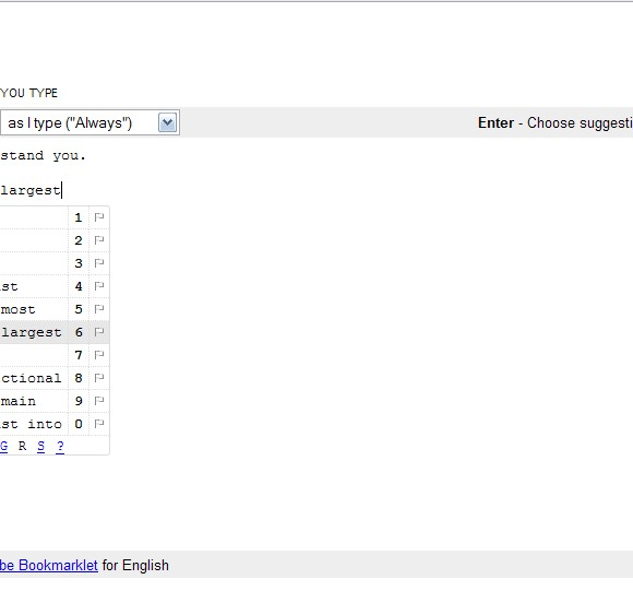 Google Scribe | un procesador de texto con autocompletado