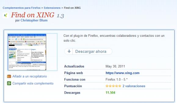 Como encontrar empresas en Xing con Firefox