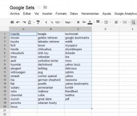 Google Sets disponible ahora en Google Docs