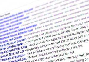 Una herramienta online para manipulación de texto