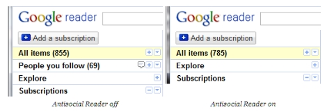 Como descativar las herramientas sociales en Google Reader