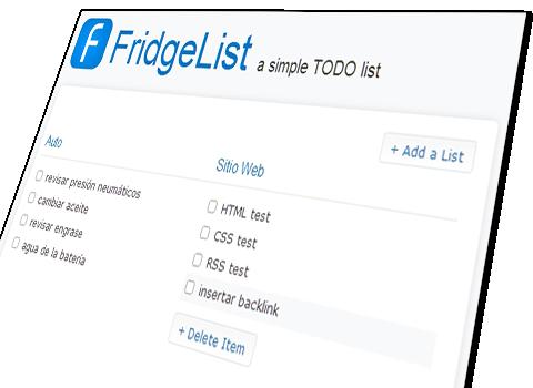 listas de cosas para hacer   FridgeList