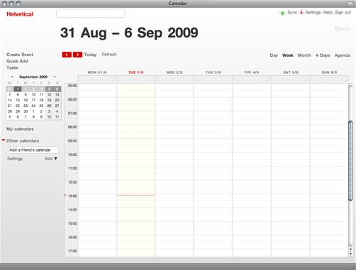 Google Calendar con Helvetical