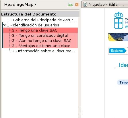 Estructuras de encabezados con Firefox