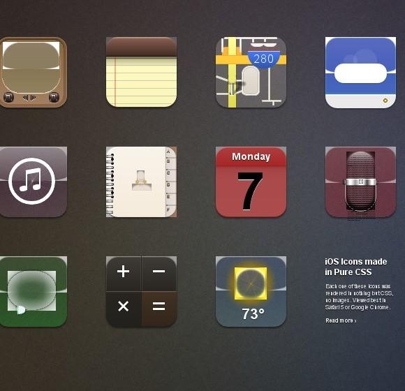 Iconos sólo con CSS
