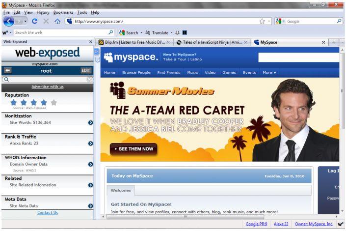 Web Exposed - todo lo que hay detrás de un sitio Web