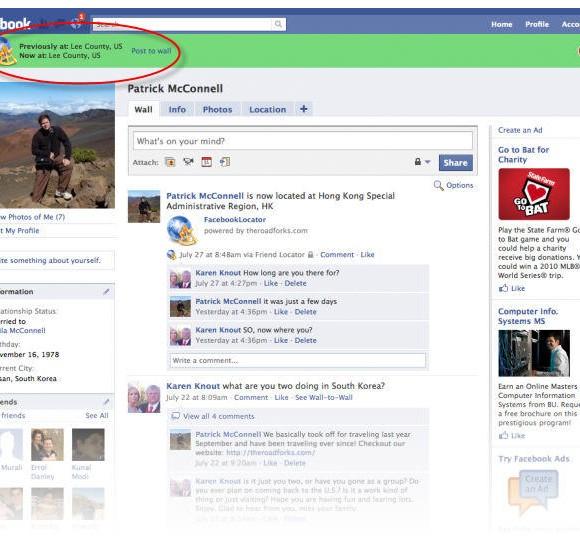 Como publicar una entrada geo-localizada en Facebook