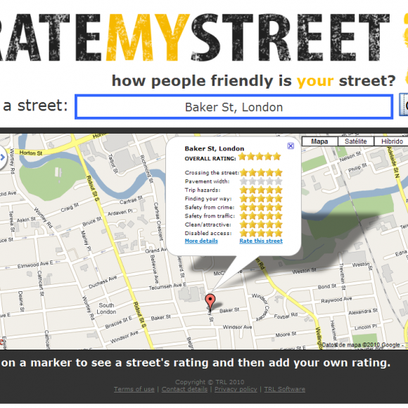 Como describir la calle donde vivís con RateMyStreet