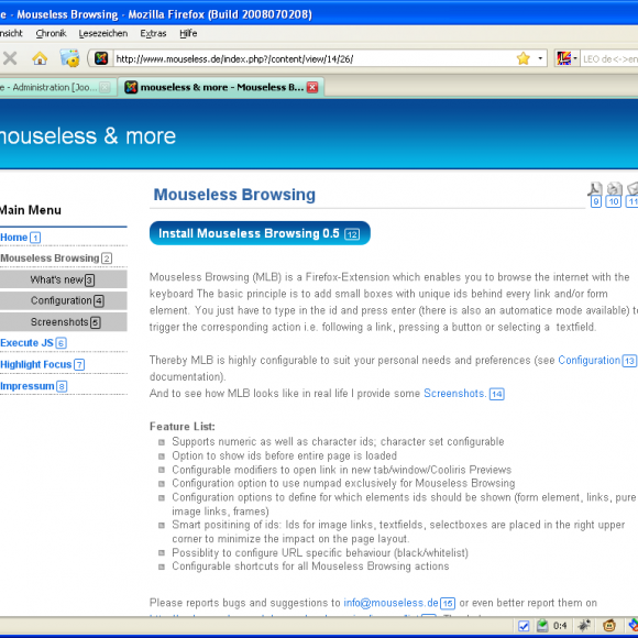 Como navegar con Firefox   sólo son teclado
