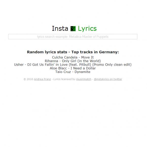 La mejor forma de buscar letras de canciones