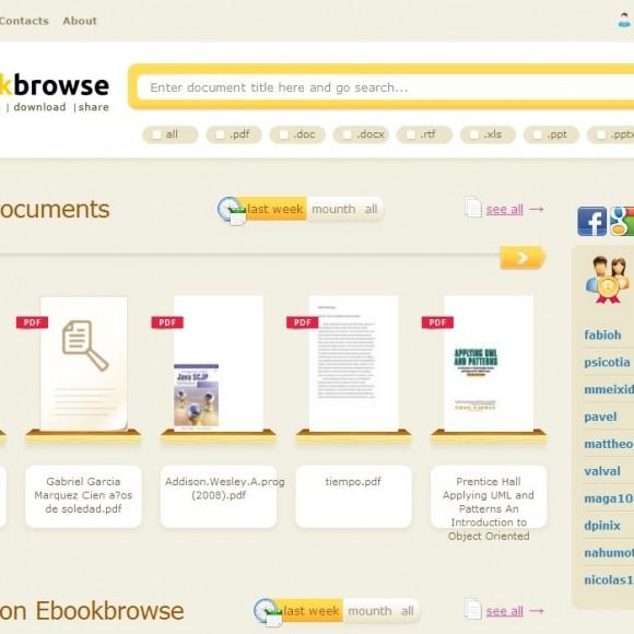 Como buscar libros electrónicos con EbookBrowse.com