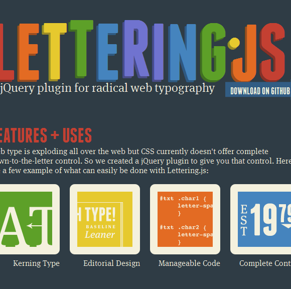 Como aplicar CSS a diferentes palabras con Lettering.js