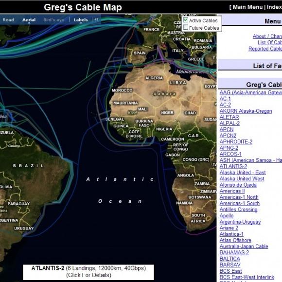 Los cables submarinos de Internet