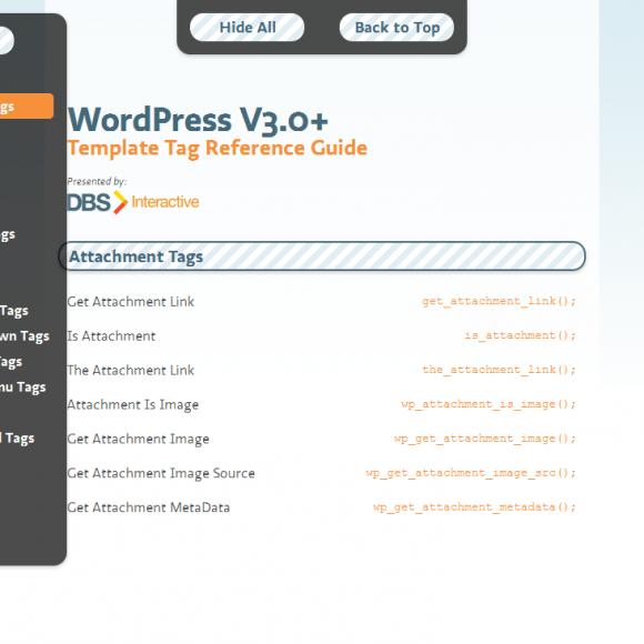 WordPress 3.0+ guía rápida de referencia para desarrolladores