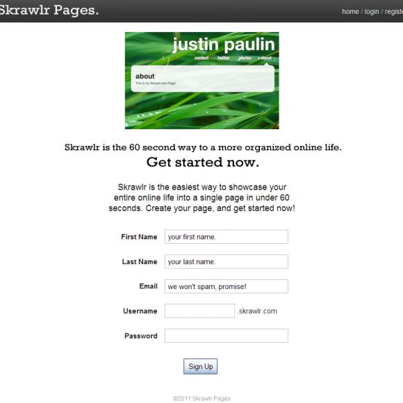 Skrawlr como publicar en 60 segundos tu vida online