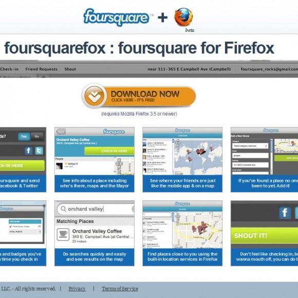 Foursquarefox | Foursquare para Firefox