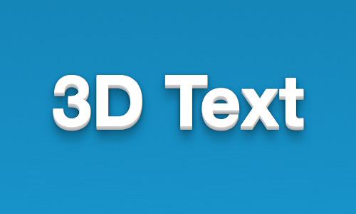 Texto 3D sólo con CSS