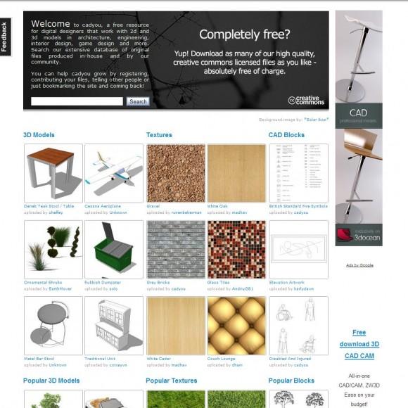 Como buscar con Cadyou modelos 3d para diseñadores