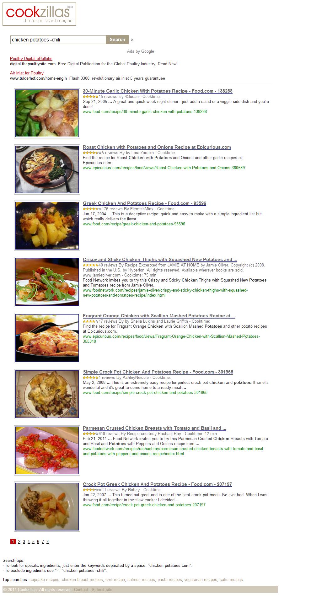 Cookzillas | un motor de búsquedas para recetas