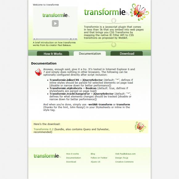 Transformie | CSS Transforms para Internet Explorer