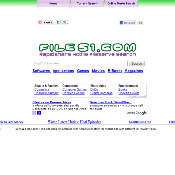 Como buscar descargas gratuitas con files1.com