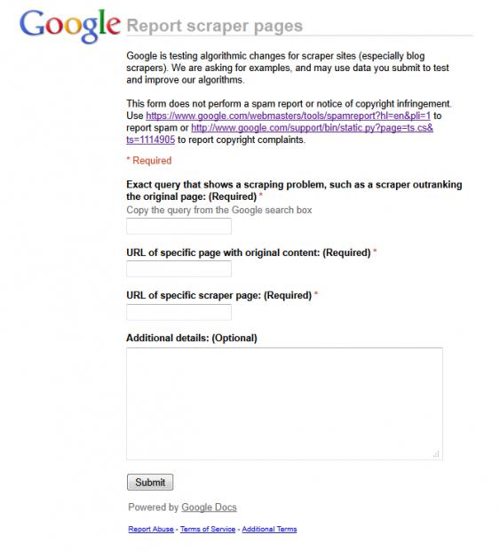 Como denunciar blogs que copian contenido