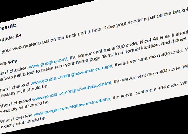 Responde tu servidor en forma adecuada?