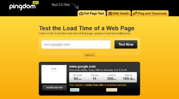 Como controlar la velocidad de carga de una página