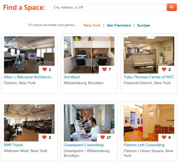 Como encontrar un espacio compartido donde trabajar