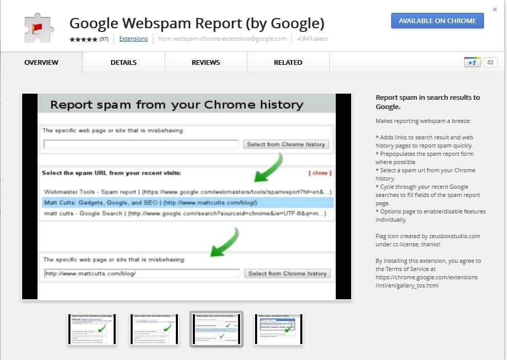Como reportar enlaces de pago con Chrome