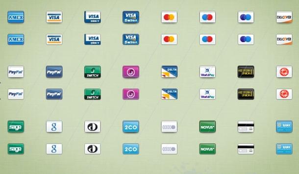 Iconos de tarjetas de crédito