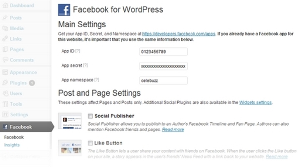Facebook para Wordpress