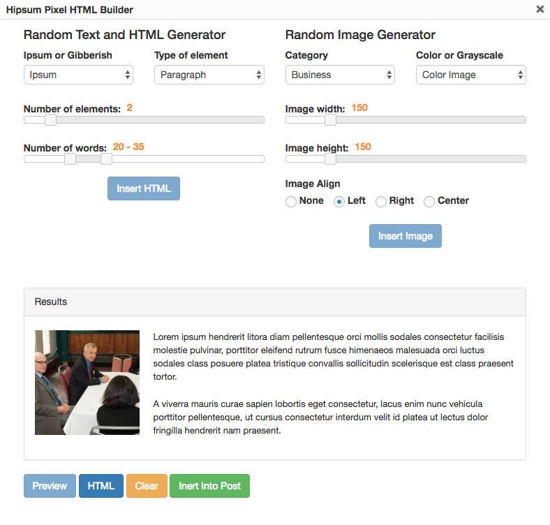 Hipsum Pixel es un plugin para generar contenido al estilo Lorem Ipsum